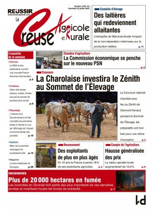 La couverture du journal La Creuse Agricole n°2131 | avril 2017